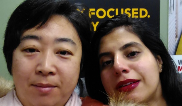 Parent leaders Nancy (right) and Waala (left)